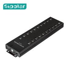 Sipolar multi 20 порты USB 2,0 концентратор с внешним 12 В 8A настольный адаптер источника питания для синхронизации данных и 1A телефон планшеты зарядки