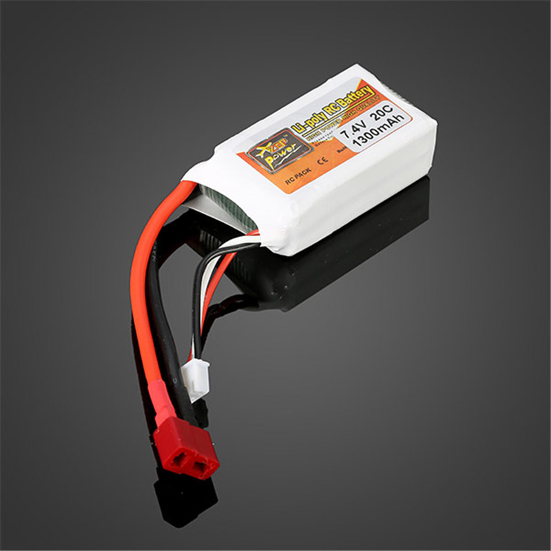 2017 New Arrival Rechargeable Lipo Battery ZOP Power 7.4V 1300mah 2S 20C Lipo Battery T Plug
