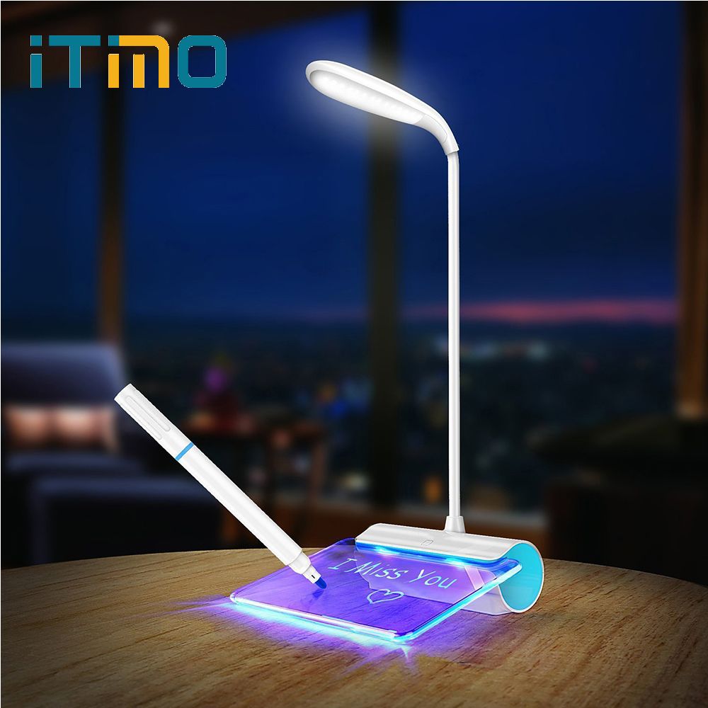ITimo LED Desk Lamp 3 Mode Dimming USB Rechageable Reading Light Night Light Touch Switch Message Light Eye Protect Table Lamp uomo m edt
