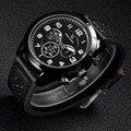 V6 reloj de hombres reloj de cuero de moda de lujo del deporte militar reloj masculino del relogio masculino montre homme reloj hombre relojes de pulsera