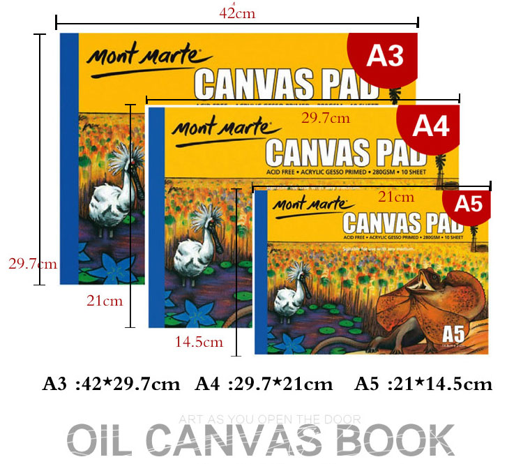 US $18 0 |10 Sheet/pack Oil Acrylic Painting Canvas Pad Paper Book 280g  painting canvas paper A3/A4/A5-in Painting Canvas from Office & School