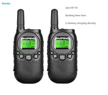 New hot item 2pcs BF-T6 baofeng two way radio portable radio walkie talkie CB Radio station Kids Handheld Communicator ham radio radio tapok