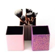 1pcs Makeup Brush Holder Box Tube Barrel Storage Bucket Cosmetic Cylinder Magnetic Organizer Without
