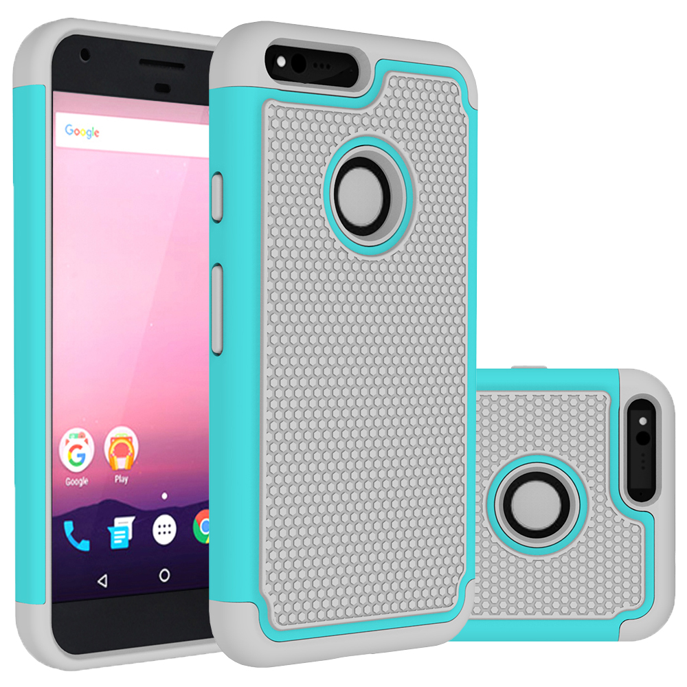 For Google Pixel Case Hybrid Rugged Rubber Hard Silicone + PC 2 In 1 Shockproof Cover Case For Google Pixel XL Case