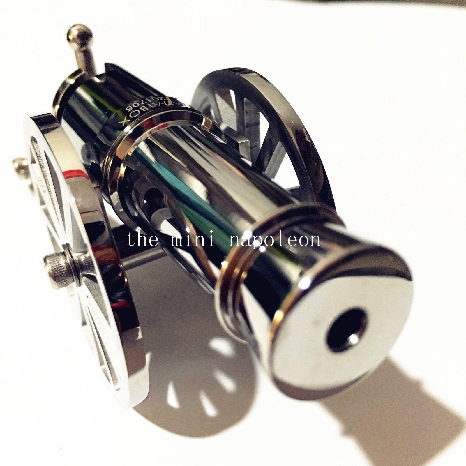 Classique Mini guerriers napoléon canon en acier inoxydable modèle de bureau modèle Naval artillerie décorations de bureau de collection - 4