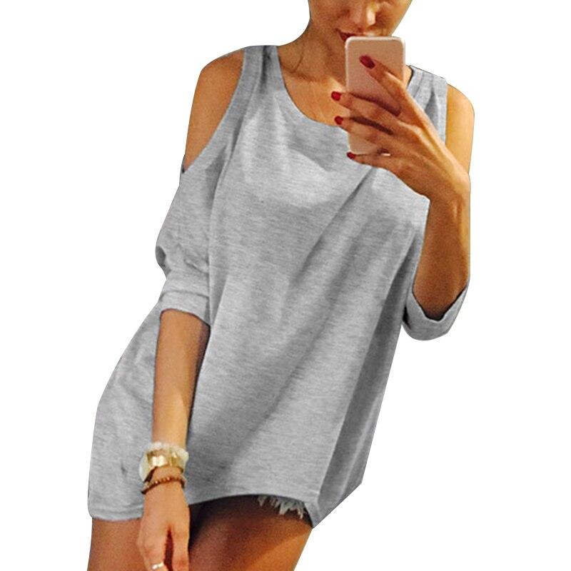 LAAMEI Plus Size 5XL Women T-shirt 2018 Strapless T Shirt Casual Loose Tee Sexy Off Shoulder Top Solid Shirts Kawaii T-Shirts