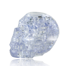 NEW 3D Crystal Puzzle DIY Jigsaw Assembly Model Gift Toy Skull Skeleton Flashing Light Kids Child