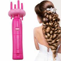Инструменты для укладки волос, автоматическая плетеная коса, трикотажное устройство с четырьмя головками, машинка для укладки волос, инстр...