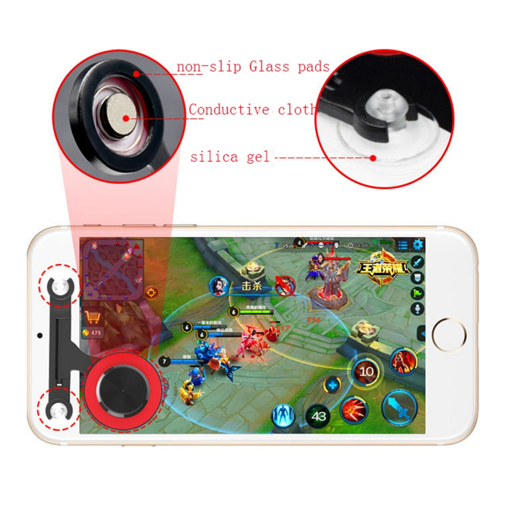 MASiKEN Mobile Game Joystick Game Sucker Rocker Controller Touch Screen Gamepad Joypad for iphone/ipad/Android Phones/Tablet