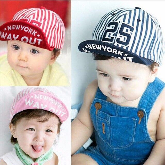 Puseky 2018 1 Piece Cute Summer Newborn Baby Hat GirlS BoyS Digital 25  Striped Baseball Cap 649da1efbb36
