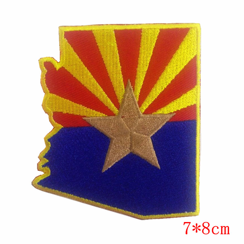 ARIZONA STATE FLAG America southwest iron-on embroidered patch state of arizona