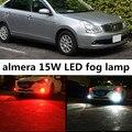 Para Nissan almera 2011-2015 acessórios H8 H11 15 W de Alta Potência brilhante 5730 15 SMD LED Car Fog Driving Lâmpada de Luz lâmpada