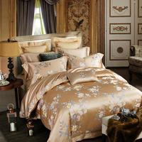 1500TC золотой шелк тутового шелкопряда Утешитель набор king size красивый дворец постельное белье для взрослых простыня домашний текстиль Новый