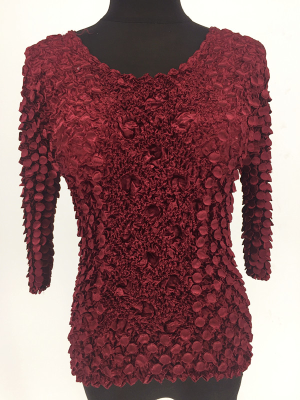 New Women Elastic Fashion Popcorn Tops Long Sleeves T-Shirts Coin Plus Size Women shirts 4