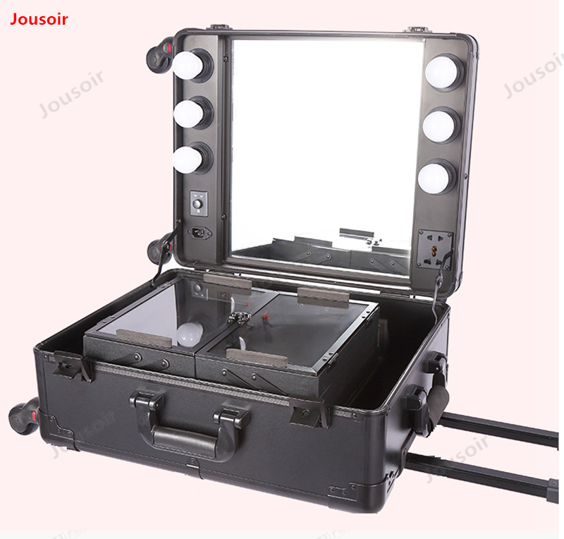Cosmetic box with lamp pull rod cosmetic bag professional cosmetic box and makeup box studio photo bag LED lamp CD30 T03   Cosmetic box with lamp pull rod cosmetic bag professional cosmetic box and makeup box studio photo bag LED lamp CD30 T03