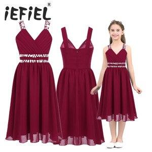 Image 1 - Шифоновое платье с V образным вырезом и блестками