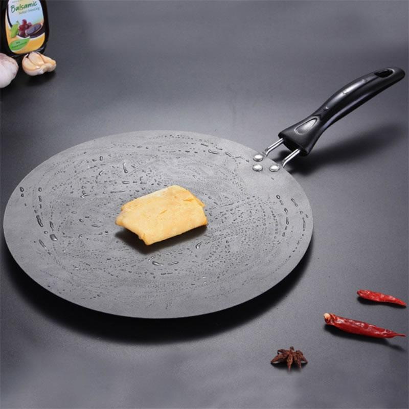 Queentime 30cm cozinha frigidle pan antiaderente grill panelas de ferro fundido omelete crepe pan panelas redondas para indução e fogão a gás