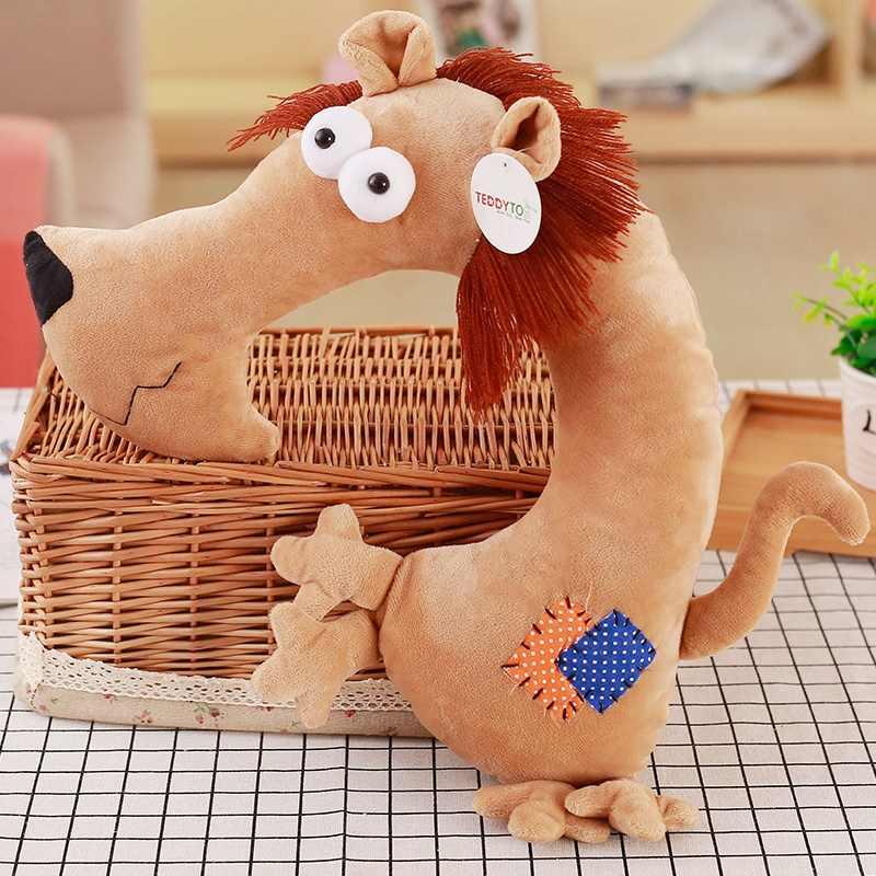 Creativo dinosaurio de peluche juguetes de viaje reposacabezas almohada de dibujos animados Animal en forma de U cuello jirafa oveja cojín niños regalo de Navidad