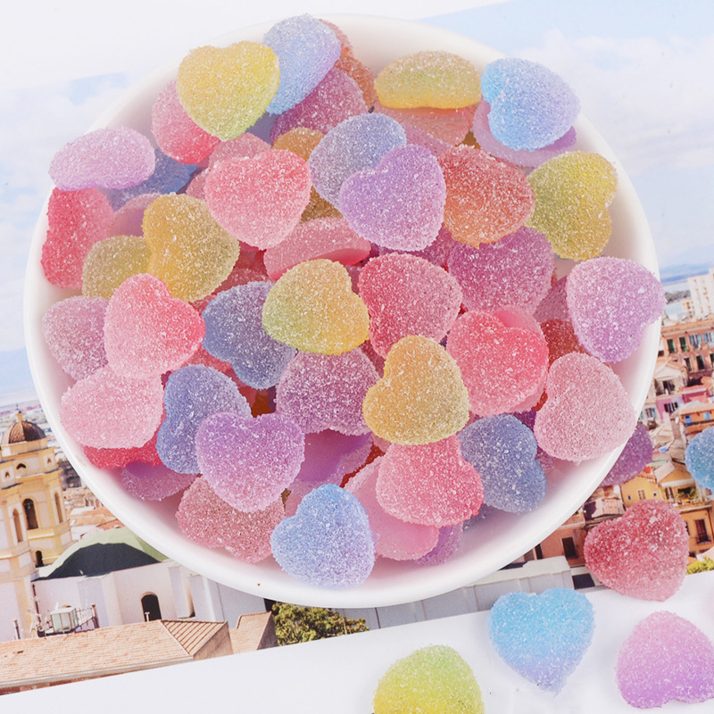 Happy Monkey 20pcs/pack Slime Supplies Toys New DIY Mini Resin Love Candy Slime Accessories Filler For Fluffy Clear Slime