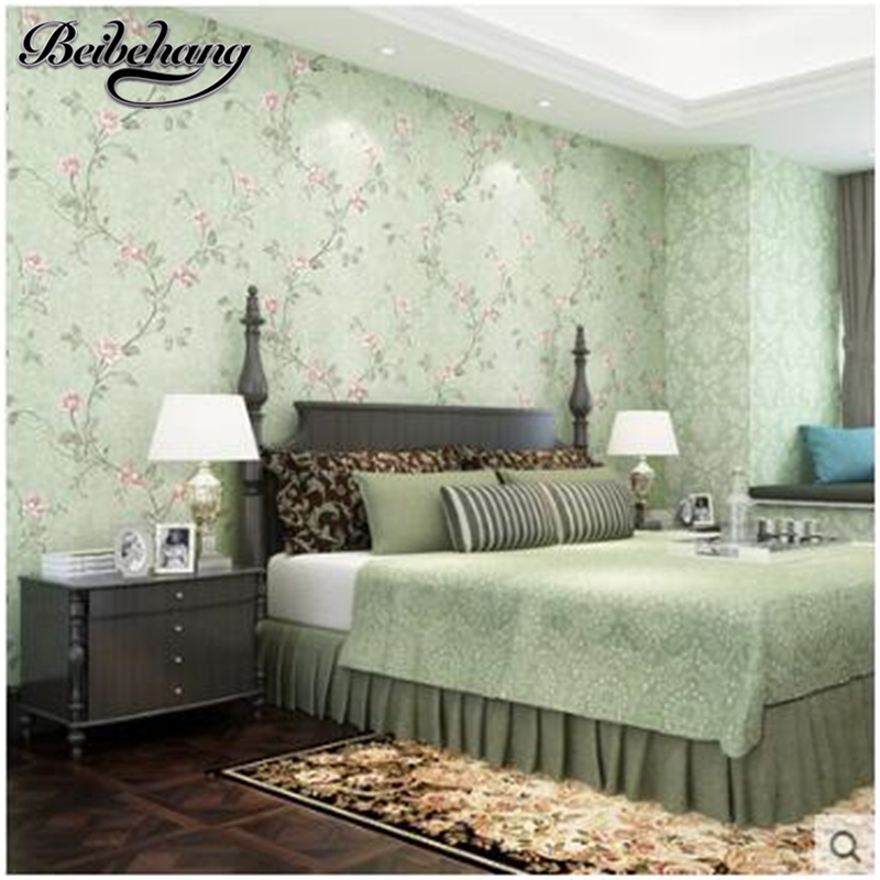 Beibehang papel de parede wallpaper pastoral tv picture background non-woven background living room bedroom full of wallpaper pastoral large flower wallpapers 3d stereoscopic non woven embossed wallpaper for living room bedroom home decor papel de parede
