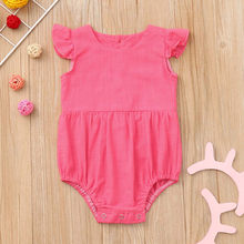 Infant Girls Rompers Ruffled Flying Sleeve Casual Sunsuit Jumpsuit Baby Girl Romper Summer 2019 Baby Onesies Newborn(China)