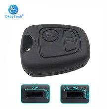 OkeyTech Высокое качество 2 кнопки дистанционного ключа оболочки чехол Брелок для peugeot 107 206 207 306 307 406 407 для Citroen C1 C4