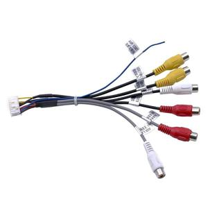 20-контактный разъем для автомобильной стереомагнитолы, выходной провод RCA, жгут проводов