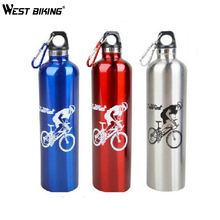 WEST BIKING 600ML Stainless Steel Sport Drink Jug Frozen Kettle Bike C