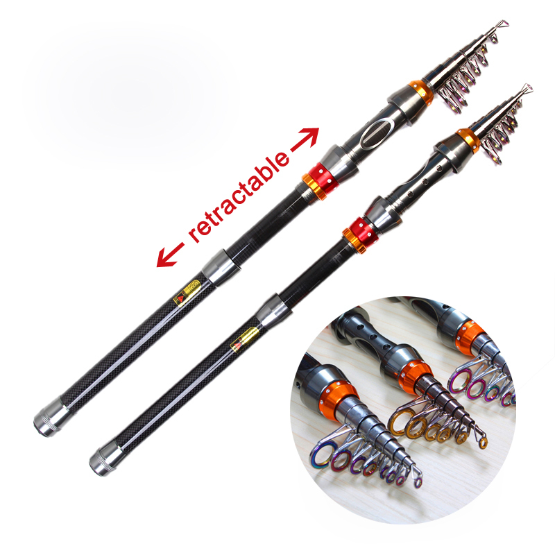 Promotion Hot Sale High Quality Telescopic Fishing Rods 1 8 3 6M sections Carbon Rods Sea