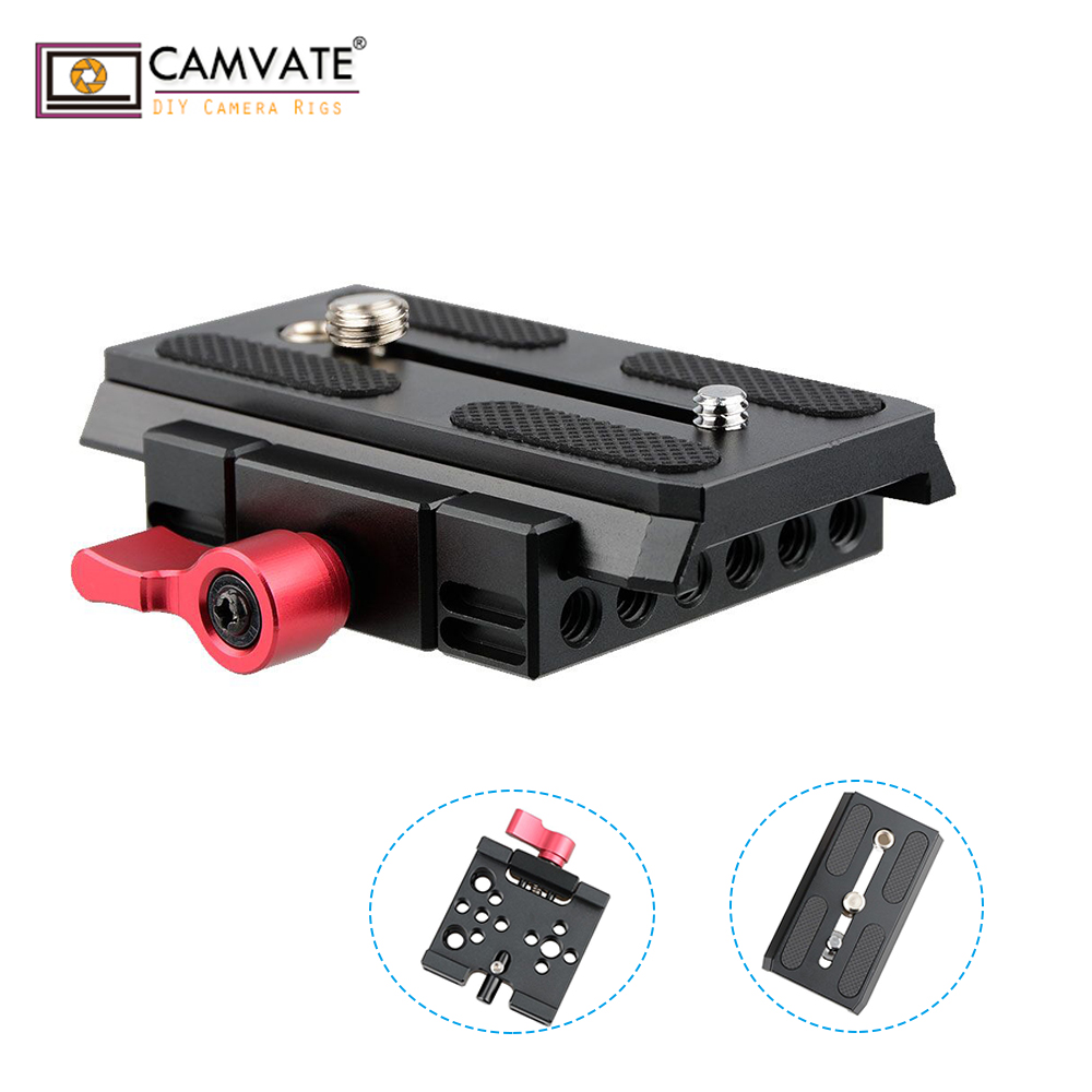 CAMVATE Quick Release Mount Base QR Plate For Manfrotto Standard Accessory C1419 Camera Photography Accessories
