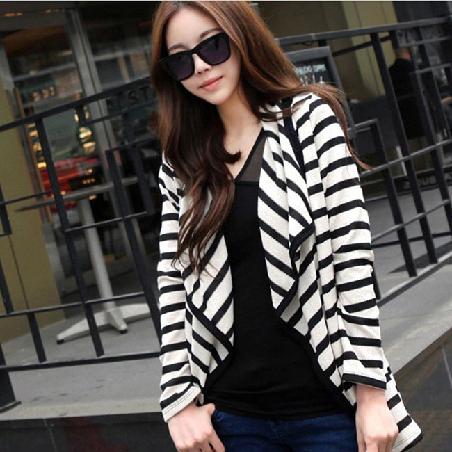 2016 Spring Fashion Women Casual Cardigan Blazer Long Sleeve ...