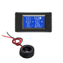 PZEM-022 Coil CT Closed Transformer 100A AC Digital Display Power Monitor Meter Voltmeter Ammeter Frequency Current Voltage(China)