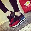 Mujeres resbalón en Los Zapatos Casuales patchwork femenina gruesa suela de gamuza zapatos altura creciente zapatos para caminar suave Tenis Feminino XK072123