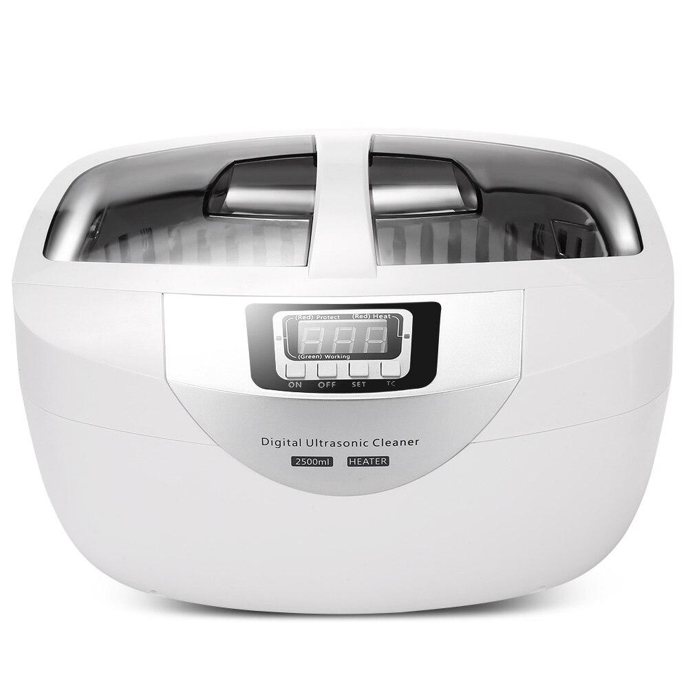 все цены на SKYMEN Ultrasonic Cleaner Baskets Jewelry Watches Dental 2.5L 60W 40kHz Heating Sonic digital Ultrasonic Cleaner Bath Vegetable онлайн