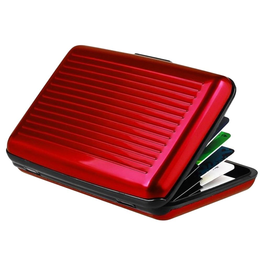 Hot Antimagnetic Waterproof Aluminum Cards Holder ID Credit Card Wallet Holder Money Coin Pocket Holder Metal Business Card Bag