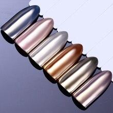 Зеркальный Серебряный Розовый Золотой блестящий порошок для ногтей сверкающий Шампань УФ Гель-лак для украшения хромированный маникюрный пигмент для дизайна ногтей DIY