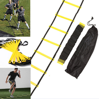New Durable Outdoor Speed Reaction Football Soccer Fitness Feet Training Ladder 6 Rung Soccer Agility Train
