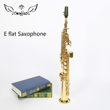 Germany MOFFAT Soprano Straight  Saxophone MFT-6570 Tube Brass Gold Lacquer B Tune Sax With Mouthpiece Professional Instrument