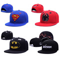 Boné de beisebol do snapback tampões homens superman spiderman batman superhero gorras planas chapéus do camionista para homens 370