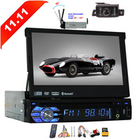 Radio With Free 8GB Map Card 7 inch Touch Screen Single Din Wince System Car GPS Player With Bluetooth USB SD Remote Control