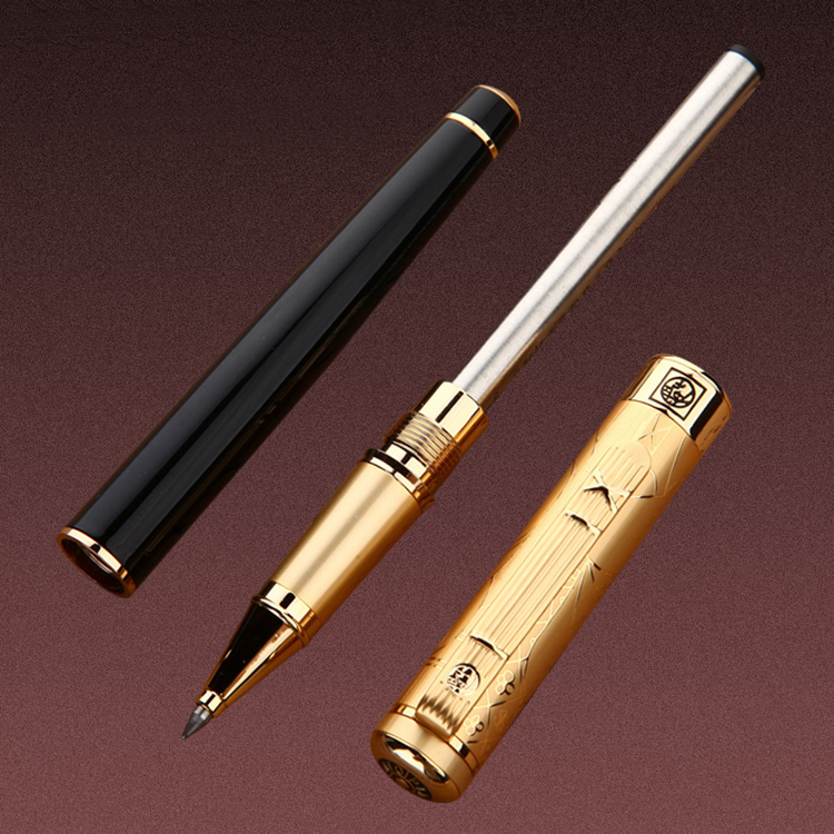 Image 3 - 1pcs/lot Picasso Roller Ball Pen 902 Pimio Picasso Roller Pens Gold Clip Luxury Brand Canetas Sationery High Quality .not box-in Ballpoint Pens from Office & School Supplies