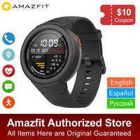 Global Version Amazfit Verge Smartwatch GPS Answer Calls Heart Rate Sleep Monitor Music Smart Watch IP68 Waterproof 11 Sports