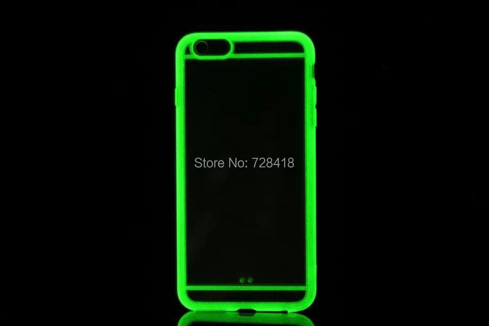 Glow dark Hotsale Fluorescent Light Hard Back Cover Case+Screen Protective Film iPhone 6 4.7 inch - Shenzhen E-Shopping Store store