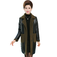 Winter Woman Elegant Overcoat Two Ways Wearing Women Lamb Cloth Outerwear Caramel Black Army Green Coat Warm Fleece Coats Outer