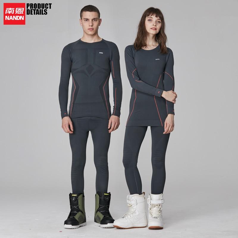 NANDN sous-vêtements de sport ski équitation course à sec rapide et élastique