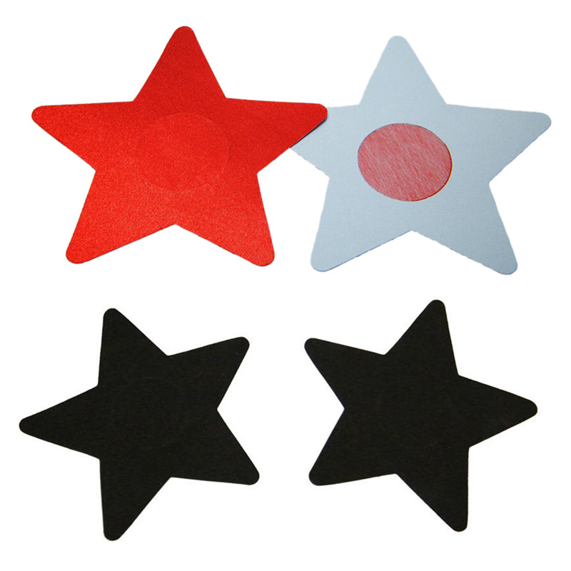 hot selling 2018 Sexy 1 pair Summer disposable Sexy Nipple Cover Star Shape Women Nipple Sticker Lingerie Pasties
