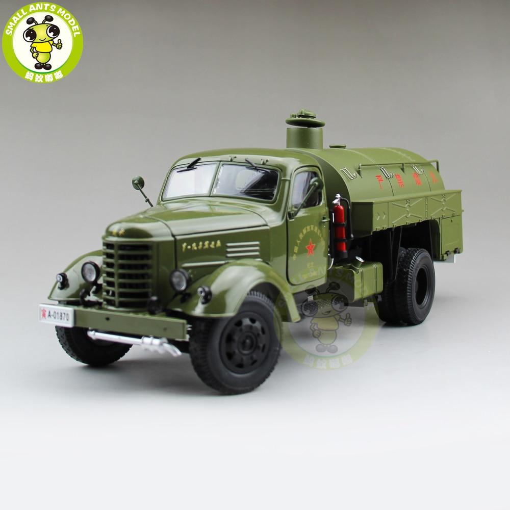 1/24 chiny JieFang FAW zbiornik paliwa samochód Diecast Model samochodu prezent kolekcja Hobby wysokiej jakości w Odlewane i zabawkowe pojazdy od Zabawki i hobby na  Grupa 1