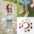 Girl Knitting Stockings Children Leg Warmers Girls Autumn Winter Candy Color Cotton Skinny Kids Tights for Girls Pants for 3-5 Y