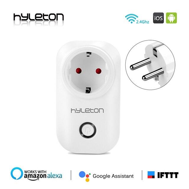 2 paczka Hyleton inteligentna wtyczka ue/US/AU/UK gniazdo zasilania przełącznik wifi pilot zdalnego sterowania przełącznik 10A wtyczka Wi-Fi elektryczne inteligentny dom