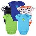 5 pçs/lote 2015 Romper Do Bebê Verão Bebê Recém-nascido Da Menina do Menino Roupas Bebe Roupas roupas de bebe menino